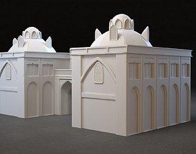 3 LOD Old Eastern Building 3D model
