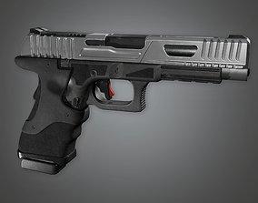 3D model MHG - Kobra Modern Handgun - PBR Game