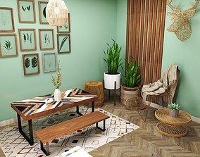 special Bohemian Living Room 3D model