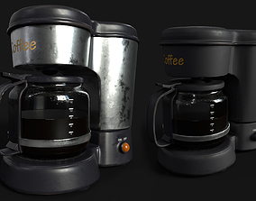 Coffee Maker Metal Body and Plastic Body Unreal 3D model 1