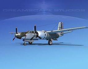 Douglas B-26B Invader France 3D model