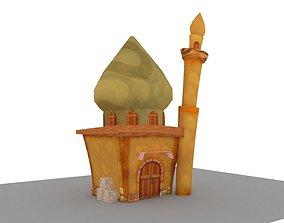 cartoon style mosque LP 3D asset