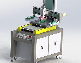 3D Double platform screen printing machine