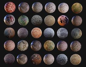 30 Brick Concrete Walls Seamless PBR Textures 3D