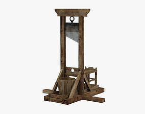 Lowpoly Guillotine 3D asset