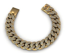 15MM MIAMI CUBAN LINK CHAIN BRACELET OR 3D printable model