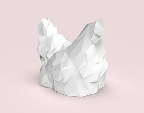 3D model Low Poly seated chicken