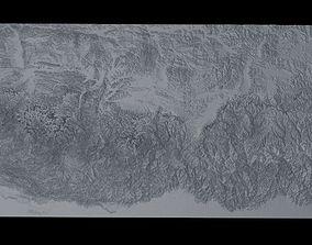 3D model Himalaya Mountains Mount Everest Area Untextured