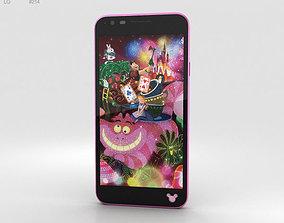 LG Disney Mobile on Docomo DM-02H Pink phone 3D model