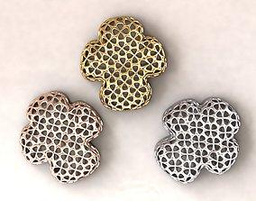 3D print model Wireframe Flowers Cross Charm Pendant