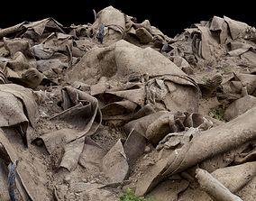 Pile of Carpet and Sand Rubble Debris 3D asset