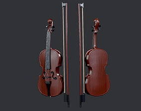 3D model Violin Instrument Game Ready 01