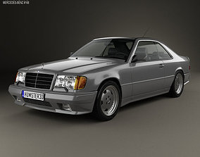 3D model Mercedes-Benz E-Class AMG coupe 1988