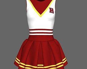 Girl cheerleader uniform 3D model
