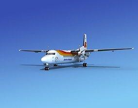 3D model Fokker 50 Denim Airways