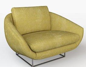 3D model Milo Baughman Lounge Chair interior