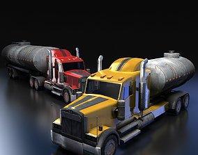 3D asset Semi-trailer Truck