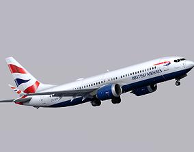 3D model Boeing 737 MAX-8 British Airways