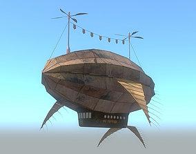 Fantasy Airship 3D asset