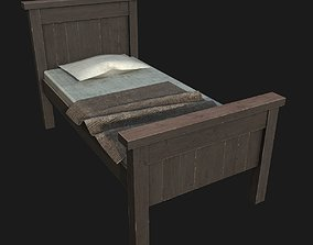 3D model game-ready Old Bed room