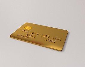 3D Gold Card
