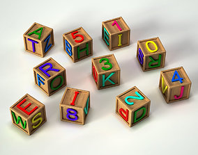 3D model Alphabet Cubes Toy