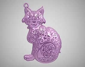 Cat Pendant pet 3D print model