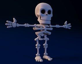 Cartoon Skeleton Not rigged 3D
