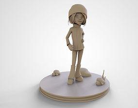 Sophie Cute Cartoon Girl 3D Print High Poly