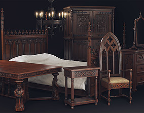 3D asset Gothic Furniture Collection