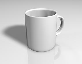 Cup of coffee espresso 3D