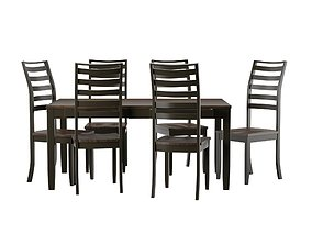 3D model Set Dining table