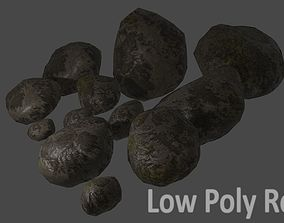 Realistic Low Poly Rock Pack 12 3D model