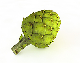 Artichoke 3D asset low-poly