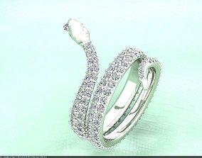 3D print model Snack diamond ring