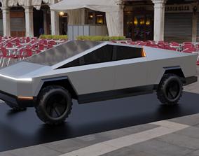 3D asset Tesla Cybertruck