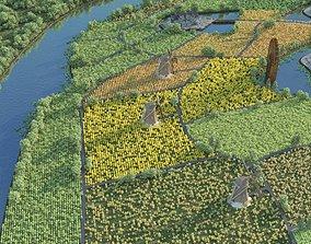 scenery 3D model Farm 1