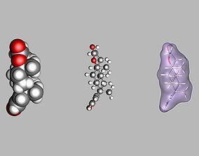 3D Testolactone molecule