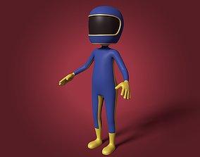Cartoon Biker - Stickman 3D model