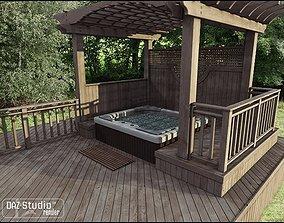 Hot Tub Pergola 3D