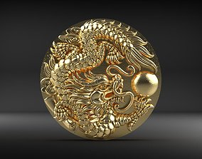 Dragon Phoenix Biker Pendant 3D printable model
