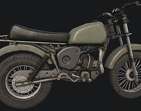 3D asset Old Motorcycle PBR