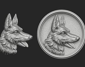 3D printable model German Shepherd Bas-Relief