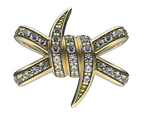 diamonds 3D printable model Earrings Thorn Knot
