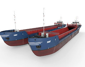 General Cargo Ship open and closed 3D model