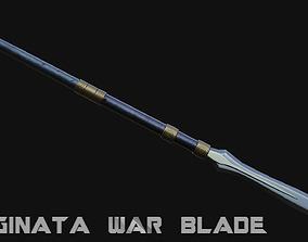 3D asset Naginata War Blade