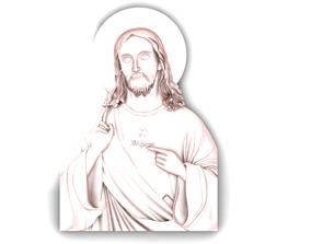 3D print model Jesus Head pendant