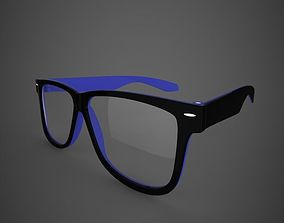 Glasses 3D model character