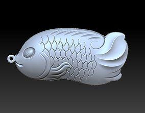 3D fish pendant