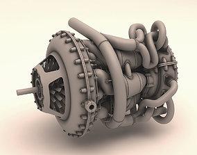 Jet engine prototype 3D